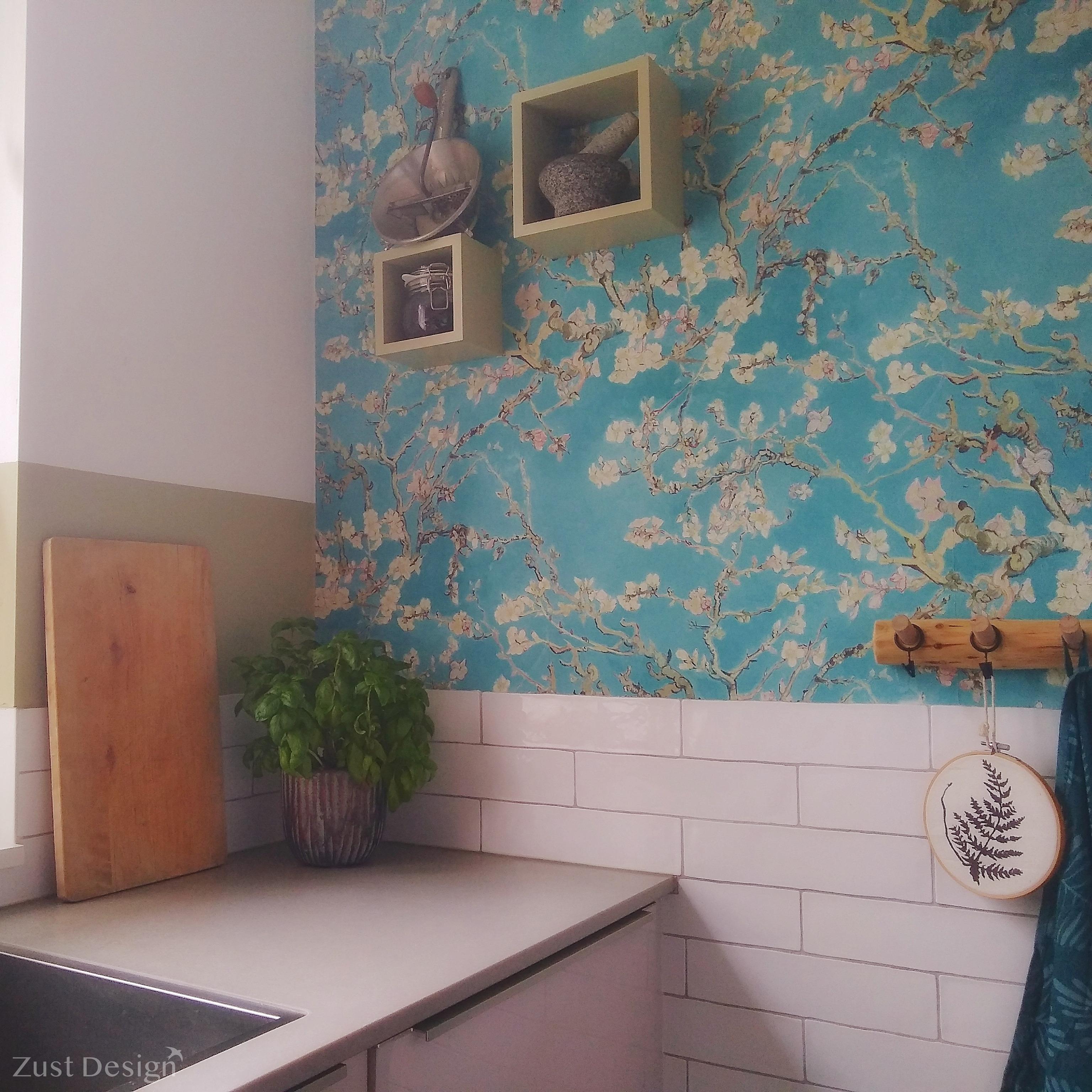 keuken design met Van Gogh behang